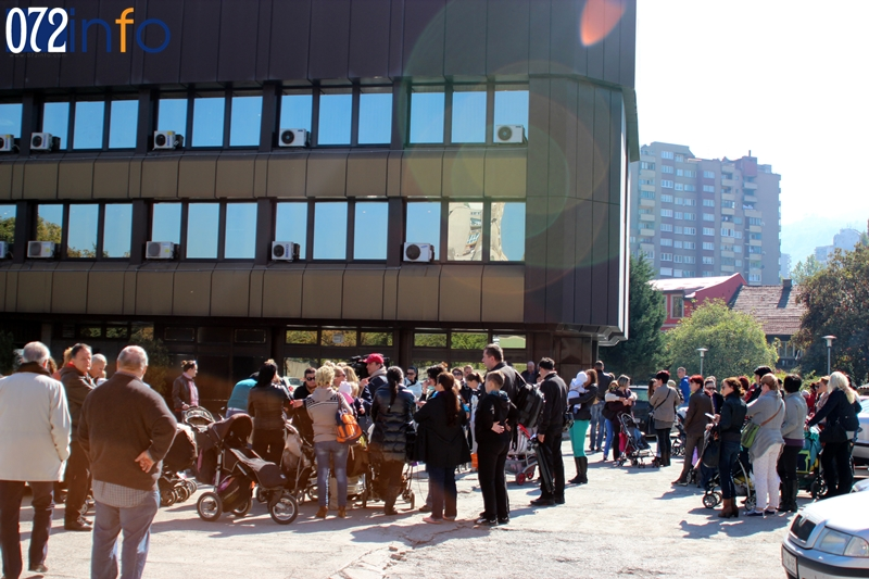 Protest mame grada Zenice