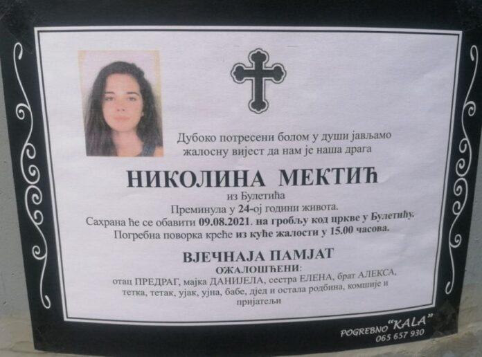 Nikolina mektic august2021 FB