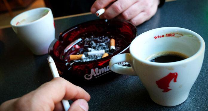 cigare pusenje pepeljara kafa
