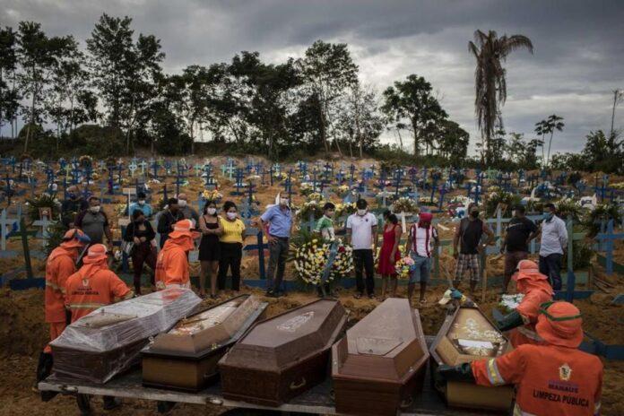 koronavirus covid pandemija brazil ilustracija EPA