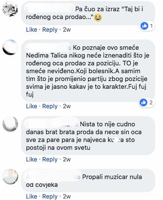 Samo neki od komentara na društvenim mrežama
