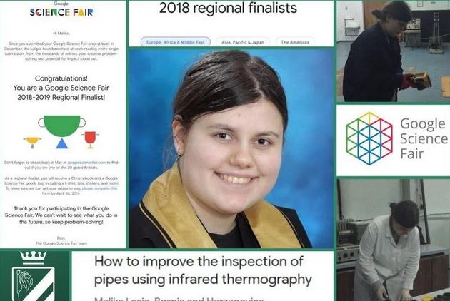 Rezultat slika za Novi uspjeh Zeničanke Melike Lošić: Postala regionalna finalistica svjetske naučne olimpijade