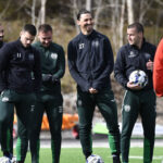 Zlatan Ibrahimovic training with Hammarby again