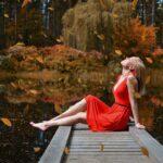 djevojka jesen
