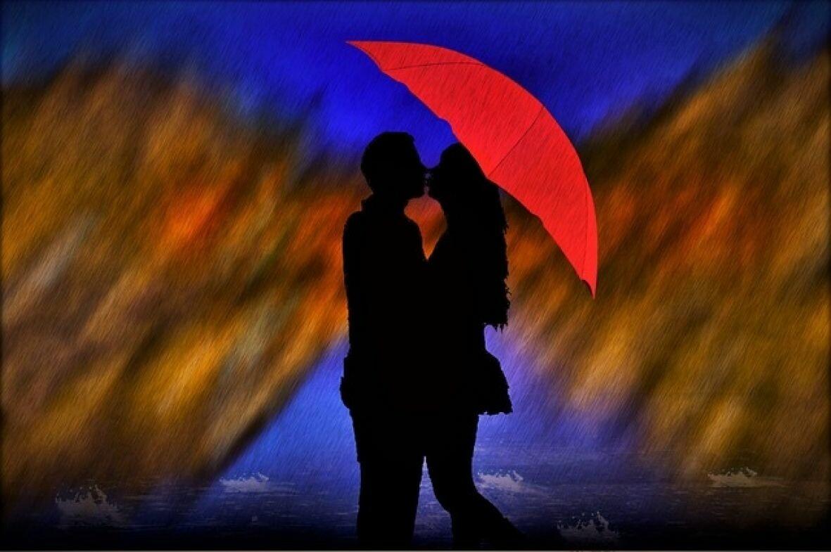 kisa kisobran ljubav pixabay