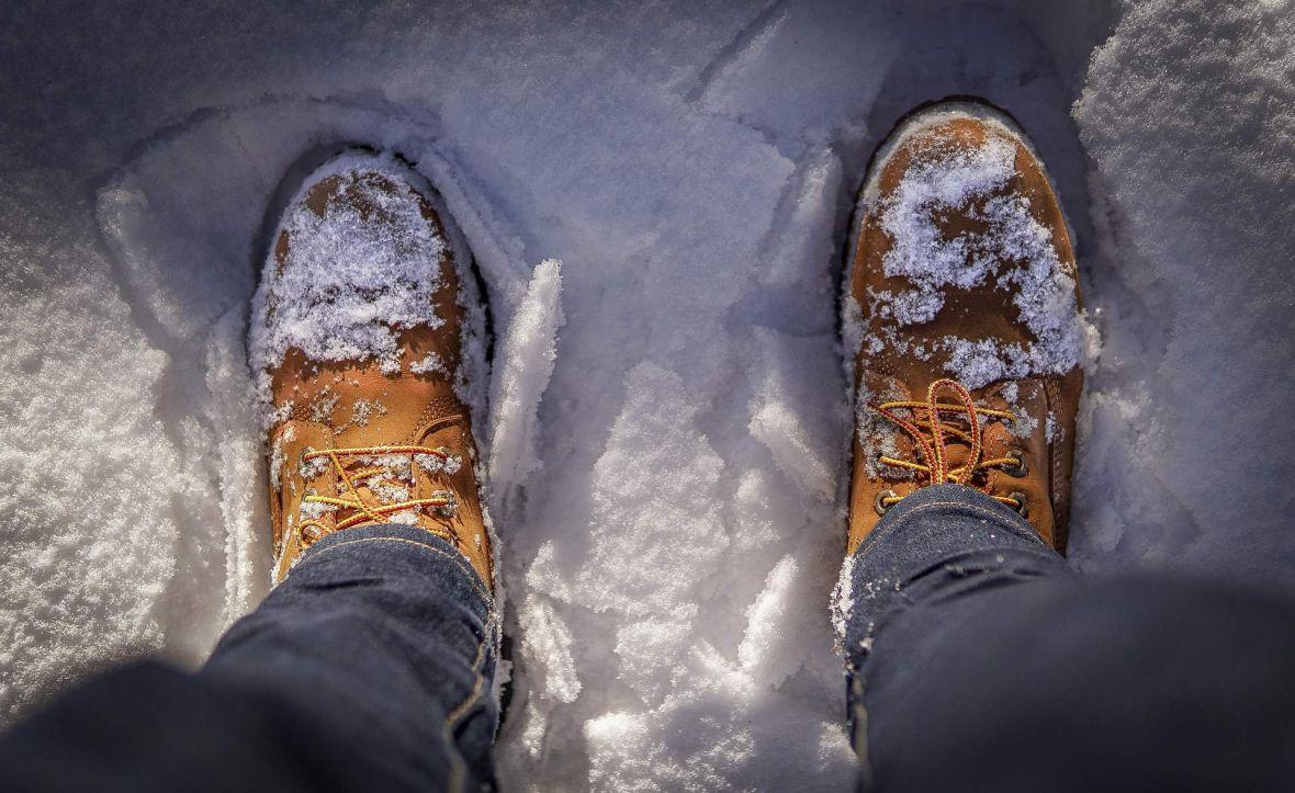 obuca snijeg