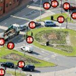 puno semafora raskrsnica