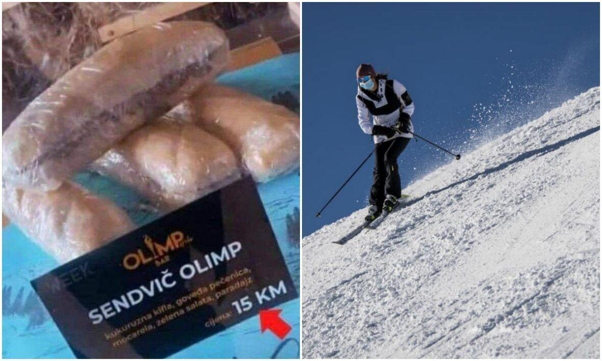 skijanje sendvic epa ilustracija
