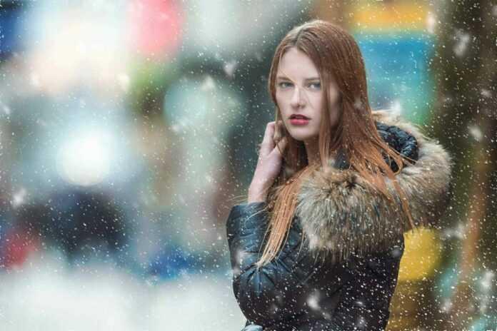 zima snijeg model zena djevojka horoskop